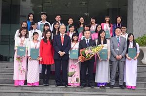 60 sinh viên xuất sắc nhận học bổng của Nhật Bản